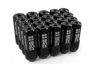 ES#3466865 - SHC3P-BLK-14x1.5 - 3-Piece 60mm Capped Lug Nuts - Black - Set of 20 3-piece locking lug nuts - Sickspeed - Audi Volkswagen