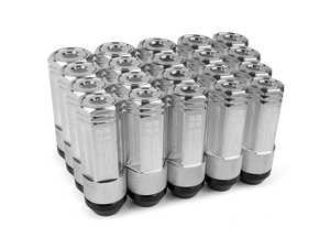 ES#3466866 - SHC3P-CHM-14x1.5 - 3-Piece 60mm Capped Lug Nuts - Chrome - Set of 20 3-piece locking lug nuts - Sickspeed - Audi Volkswagen