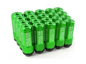 ES#3466867 - SHC3P-GRN-14x1.5 - 3-Piece 60mm Capped Lug Nuts - Green - Set of 20 3-piece locking lug nuts - Sickspeed - Audi Volkswagen