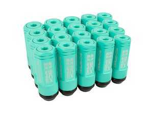 ES#3466868 - SHC3P-MTG-14x1.5 - 3-Piece 60mm Capped Lug Nuts - Mint Green - Set of 20 3-piece locking lug nuts - Sickspeed - Audi Volkswagen