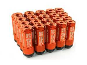 ES#3466870 - SHC3P-ORG-14x1.5 - 3-Piece 60mm Capped Lug Nuts - Orange - Set of 20 3-piece locking lug nuts - Sickspeed - Audi Volkswagen