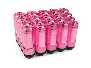 ES#3466871 - SHC3P-PNK-14x1.5 - 3-Piece 60mm Capped Lug Nuts - Pink - Set of 20 3-piece locking lug nuts - Sickspeed - Audi Volkswagen