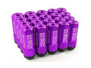 ES#3466873 - SHC3P-PPL-14x1.5 - 3-Piece 60mm Capped Lug Nuts - Purple - Set of 20 3-piece locking lug nuts - Sickspeed - Audi Volkswagen