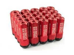 ES#3466874 - SHC3P-RED-14x1.5 - 3-Piece 60mm Capped Lug Nuts - Red - Set of 20 3-piece locking lug nuts - Sickspeed - Audi Volkswagen