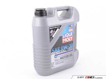 ES#3464836 - 20204 - Special Tec V 0W-30; 5L Bottle; Meets ACEA A5 And ACEA B5 Specifications - Great for low temperature lubrication on vehicles which normally use 5W-30 - Liqui-Moly -