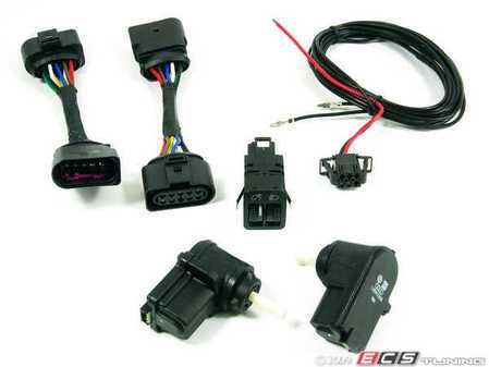 ES#12178 - 1J0998003KT - Leveling Harness Kit - Stage 2 - For cars without leveling motors in headlights, but have the option of installing & wiring them up internally. - ECS - Volkswagen