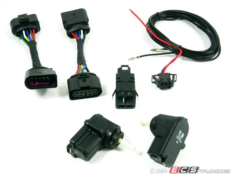 10014_x800 ecs 1j0998003kt leveling harness kit stage 2 vw golf mk4 headlight harness at fashall.co