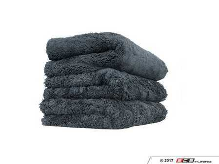 """ES#3450608 - MIC35703 - Happy Ending Edgeless Microfiber Towel Black - (3 Pack) - 16"""" x 16"""" for ideal handling and control while detailing - Chemical Guys - Audi BMW Volkswagen Mercedes Benz MINI Porsche"""