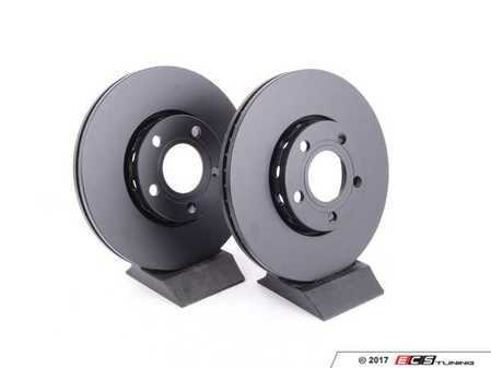 ES#2961624 - RK602 - Front Brake Rotors - Pair (288x25) - Restore the stopping power in your vehicle - EBC - Audi