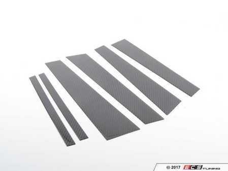 ES#3420950 - BM-0123 - B-Pillar Covers - Carbon Fiber - Carbon fiber accents you cannot miss - AUTOTECKNIC - BMW