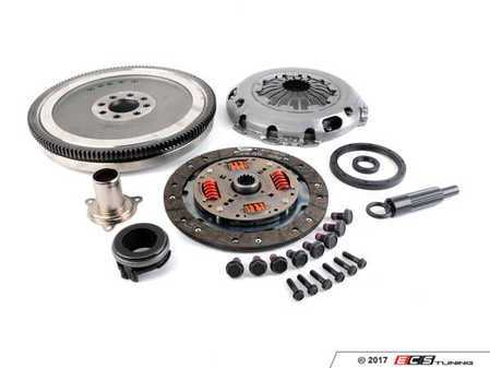 ES#3469345 - 52151203KT - Single Mass Flywheel Conversion Kit 52151203 Valeo With Seals/Guide Tube - DMf (Dual Mass Flywheel) to Single Conversion Kit with clutch and pressure plate, comes with extra seals and guide tube to finish the conversion. ECS Exclusive Kit!!  R53/R52 Supercharged Engines Only. - Assembled By ECS - MINI