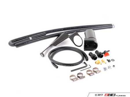 ES#3458274 - 015515TMS01-01KT - Turner S54 Baffled Oil Catch Can System - A 4 chamber, baffled oil catch can with valved drain system - complete with an application-specific mounting hardware and silicone hoses - Turner Motorsport - BMW