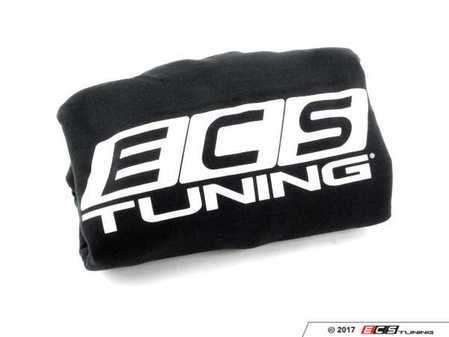ES#3411367 - 6060293 - Black ECS Pullover Hoodie - Large - Featuring white ECS Tuning logo on left chest and full back - ECS - Audi BMW Volkswagen Mercedes Benz MINI Porsche