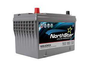 ES#3469422 - NSB-AGM-34 - NorthStar Ultra High Performance AGM Battery - 34 - Pure lead AGM battery with high reserve capacity and cranking amps - NorthStar - Volkswagen
