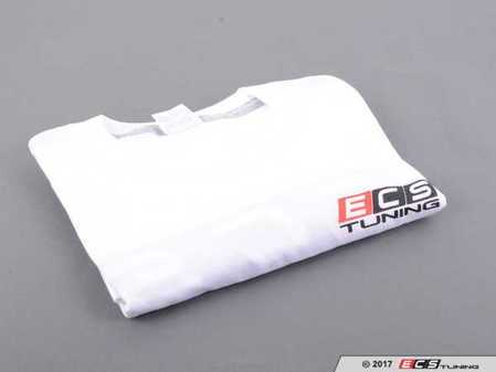 ES#3411392 - 6060361 - White ECS Short Sleeve T-Shirt - Small - Featuring full color ECS Tuning logo on left chest and full back - ECS - Audi BMW Volkswagen Mercedes Benz MINI Porsche