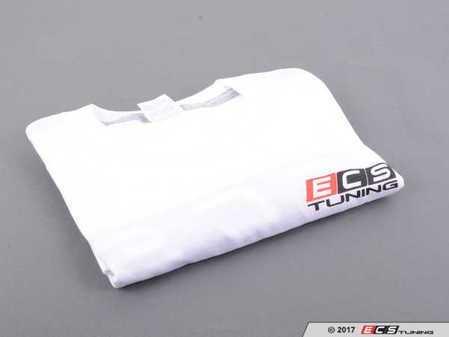 ES#3411393 - 6060362 - White ECS Short Sleeve T-Shirt - Medium - Featuring full color ECS Tuning logo on left chest and full back - ECS - Audi BMW Volkswagen Mercedes Benz MINI Porsche