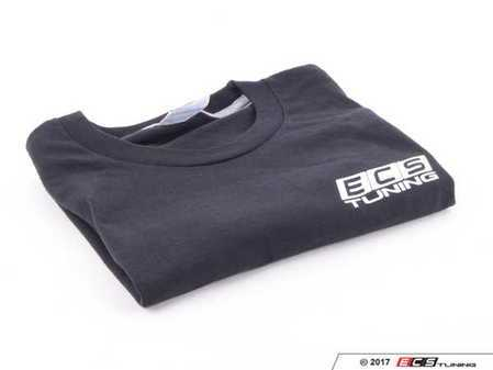 ES#3411403 - 6060376 - Black ECS Short Sleeve T-Shirt - 3X - Featuring white ECS Tuning logo on left chest and full back - ECS - Audi BMW Volkswagen Mercedes Benz MINI Porsche