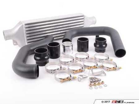 ES#3457328 - ATP-VVW-178-BK-4 - 400hp Front Mount Intercooler Kit - Black Connectors - Features a Garrett 400hp GT Spec high density/high efficiency intercooler core with ATP cast end tanks - ATP - Volkswagen