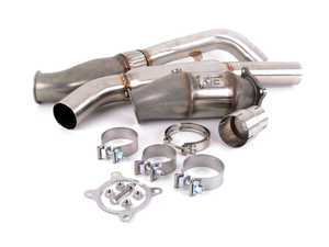 """ES#3464336 - IEEXCK1 - 3.0"""" Performance Downpipe With High-Flow Cat - 100% 304 stainless construction with 200 cell high-flow catalytic converter - Integrated Engineering - Audi"""