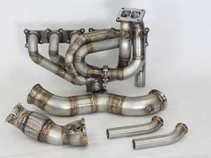 ES#3470026 - DOC-N54TM-HPK - DocRace 135i/335i N54 Top Mount Turbo Hot Pipes Kit - Comes with all the exhaust side parts for a single T4 swap - DocRace - BMW
