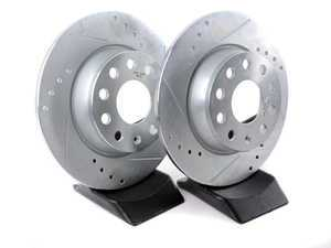 ES#3155049 - EBR1204XPR - Rear Cross-Drilled and Slotted Evolution Rotors - Pair (272x10) - Zinc coated performance rotors - Power Stop - Audi Volkswagen