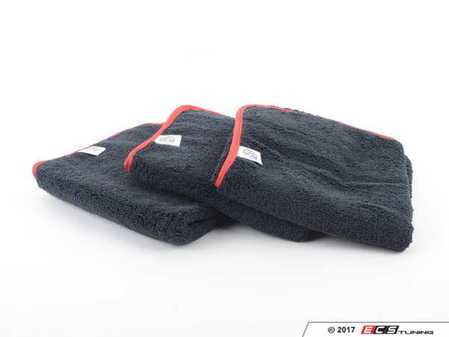 """ES#3450628 - MIC50903 - Premium Red-Line Microfiber Towels - (16"""" x 24"""") - 3 Pack - Extra soft premium quality towels with exclusive silk-banded edges to help prevent any swirls or scratches - Chemical Guys - Audi BMW Volkswagen Mercedes Benz MINI Porsche"""