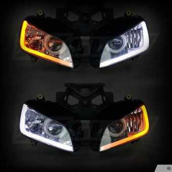 ES#3469968 - XK043001-24 - Sequential Switchback LED Strip Kit DRL Turnsignal for Headlights - Comes as a set - 24 inch length. - XKGLOW - Audi BMW Volkswagen MINI
