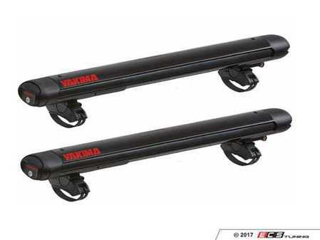 ES#3475890 - 8003096 - FatCat 6 Evo - Black  - Wide enough to carry 6 pairs of skis or four snowboards - Mounts tool-free on virtually any roof rack! - Yakima - Audi BMW Volkswagen Mercedes Benz MINI Porsche