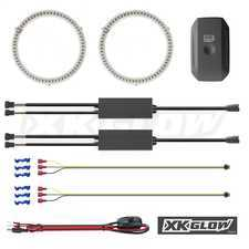 ES#3469952 - XK042008-120 - XK Glow Switchback Halo Million Color XKCHROME  - Comes in a pair - 120mm smartphone app controlled. - XKGLOW - Audi BMW Volkswagen MINI