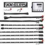 ES#3469877 - XK041007 - XK GLOW LED Underglow Kit. - 12pc interior and underbody advanced UFO style 3 million color remote control Kit. - XKGLOW - Audi BMW Volkswagen MINI