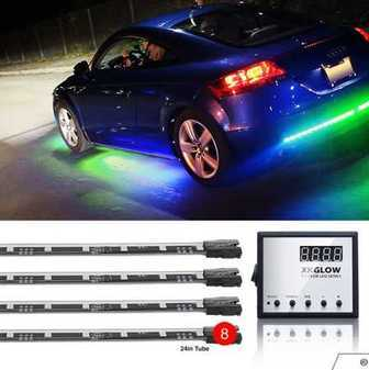 ES#3469875 - XK041006 - XK GLOW LED Underglow Kit. - 8pc interior and underbody advanced UFO style 3 million color remote control Kit. - XKGLOW - Audi BMW Volkswagen MINI