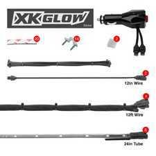 "ES#3469854 - XK041002-AB - XK GLOW Underglow LED Kit - (8)24"" Tubes Single Color - Light Blue. - XKGLOW - Audi BMW Volkswagen MINI"