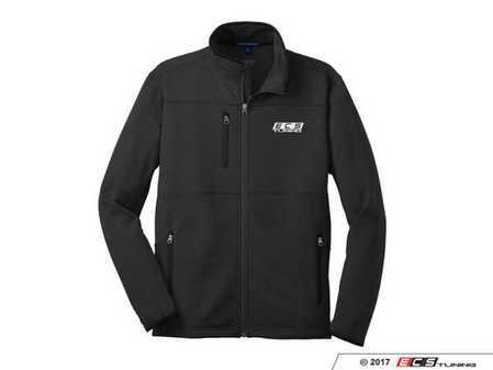 ES#3411278 - 6060114 - Black ECS Fleece Jacket - XL - Featuring white embroidered ECS Tuning logo on left chest - ECS - Audi BMW Volkswagen Mercedes Benz MINI Porsche