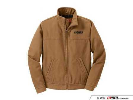 ES#3411307 - 6060173 - Brown ECS Work Jacket - Large - Featuring black embroidered ECS Tuning logo on left chest - ECS - Audi BMW Volkswagen Mercedes Benz MINI Porsche