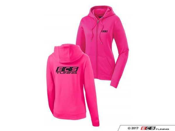 Ecs 6060203 Pink Ecs Ladies Zip Up Hoodie Large