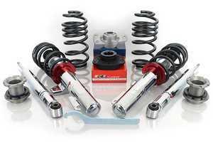 "ES#3476173 - 11505080-1KT - Koni 1150 Series Coilover Kit - Adjustable Dampening - 1150-5080-1 - Average lowering of up to 2.4"" F, 2.0"" R - Assembled By ECS - Audi Volkswagen"