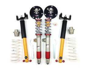 ES#4070005 - TCKF8XSingleDbl - TC Kline Racing Single/Double Adjustable Street/Track Coilover Kit - Lifetime warranty on street-driven cars! Featuring proprietary double-adjustable Koni dampers, front camber plates, and 300#F/600#R springs. Single adjustable front, double adjustable rear shocks. - TC Kline Racing - BMW