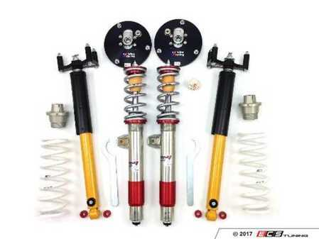 ES#3466250 - TCKF8XDblKit - TC Kline Racing Double Adjustable Street/Track Coilover Kit - Lifetime warranty on street-driven cars! Featuring proprietary double-adjustable Koni dampers, front camber plates, and 400#F/700#R springs - TC Kline Racing - BMW