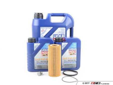 ES#3418639 - 2331kt2 -  Oil Service Kit - Premium  - Includes MANN oil filter, drain plug/washer, and 7 liters of Leichtlauf High Tech Engine Oil (5w-40) oil - Assembled By ECS - Audi
