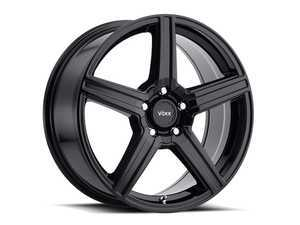 "ES#3506439 - CM880500345GBKT3 - 18"" Como - Set Of Four - 18x8 ET45 5x112/5x120 - Gloss Black - Voxx wheels - MINI"