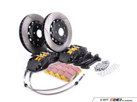 ES#2960027 - FMSBKMK5 - Forge Front Big Brake Kit - 330x32mm Slotted 2 piece Rotors - Front big brake kit featuring 2 piece rotors, black 6 pot calipers, and EBC yellow pads. - Forge - Volkswagen