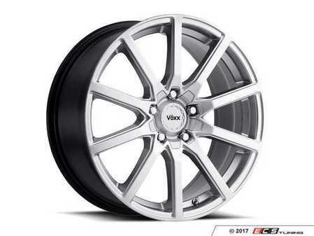 """ES#3508305 - est775500340sKT2 - 17"""" Este - Set Of Four - 17x7.5 ET40 5x112/5x120 - Bright Silver - Voxx wheels - MINI"""