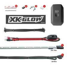 """ES#3469774 - KS-CAR-STANDARD - XK Glow XKChrome App controlled underglow Kit - Standard - 8x24"""" Slim Tubes. - XKGLOW - Audi BMW Volkswagen MINI"""