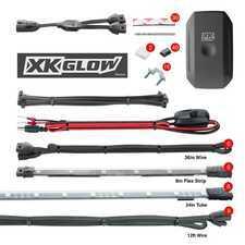 "ES#3469771 - KS-CAR-ADVANCED - XK Glow XKChrome App controlled underglow Kit - Advanced - 8x24"" Slim Tube + 6x10"" Flex Strips - XKGLOW - Audi BMW Volkswagen MINI"