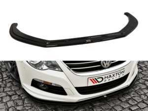 ES#3477856 - VW-CC-R-FD1-G - Front Lip Spoiler - Gloss Black - Enhance your CC's exterior appearance - Maxton Design - Volkswagen