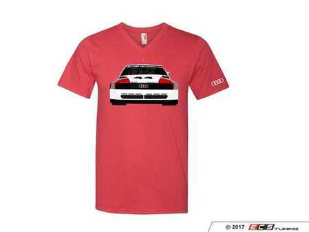 ES#3232553 - ACM3010RED3X - 200 Trans Am T-Shirt - 3X-Large - Audi Trans Am design on front of tee in white, black, and red, with Audi four rings logo on left sleeve in white. Slim Fit. - Genuine Volkswagen Audi - Audi BMW Volkswagen Mercedes Benz MINI Porsche