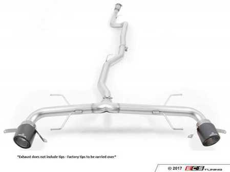 ES#3478042 - 025217 1700 - Non-Resonated Cat-Back Exhaust System - Without Tips - Stainless steel cat-back system consisting of non-resonated front section and non-resonated rear section - Can be installed with factory tips or the carbon Remus tips 0626 70CSS - Remus -
