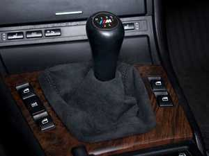 ES#47399 - 25117919219 - Alcantara Shift Boot - Refine the look of your interior - Genuine BMW - BMW