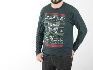 ES#3470730 - 6060501 - Dark Green ECS 'Ugly Christmas Sweater' - Small - Long Sleeve T-Shirt with 3-color silk screen graphic - ECS - Audi BMW Volkswagen Mercedes Benz MINI Porsche