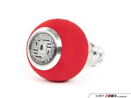 ES#3478439 - GS2DGRU - BFI Heavy Weight Shift Knob - Red Alcantara - Just because your car doesn't have a third pedal, doesn't mean you should be stuck with some goofy shifter. - Black Forest Industries - Audi Volkswagen